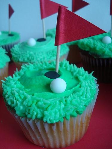 Golf cupcakes. Make them Laz :-)