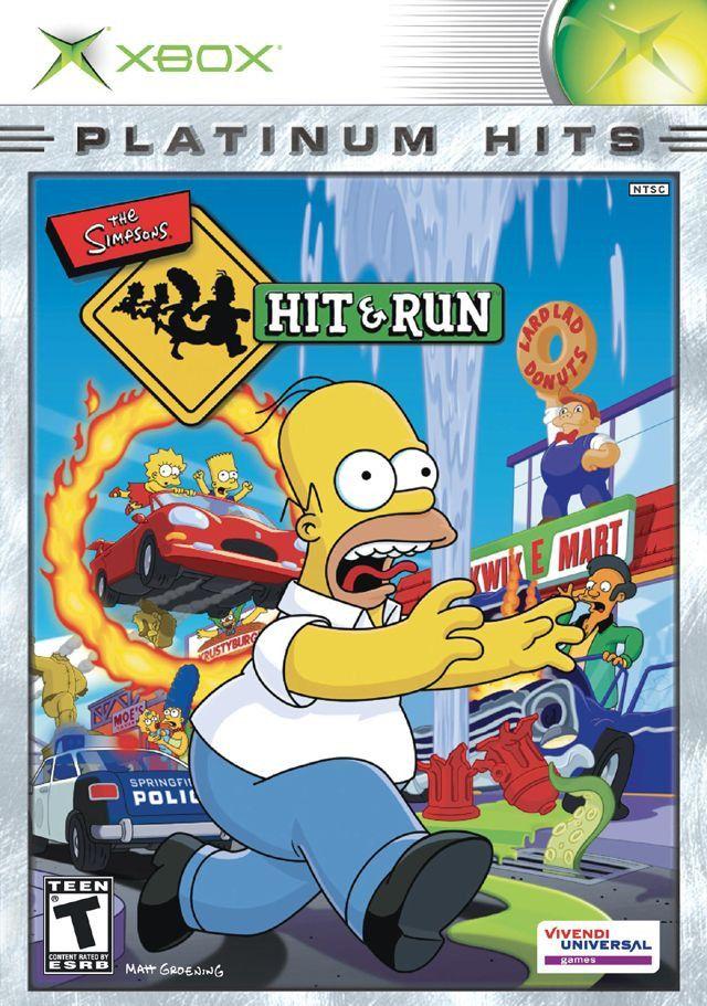 Simpsons Hit & Run (Microsoft Xbox, 2003) Platinium Hits