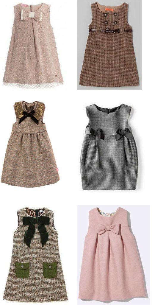 vestidos para niña colores cafe