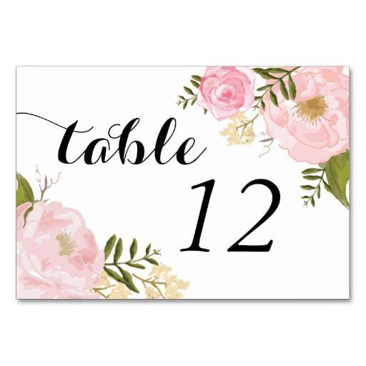 Modern Vintage Pink Floral Wedding Card