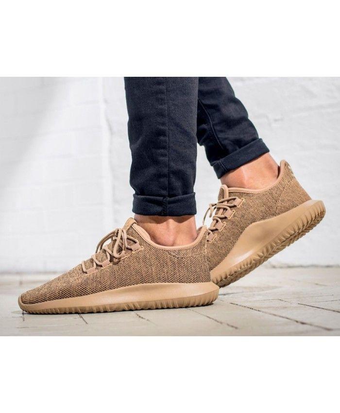 Adidas Mens Tubular Shadow Knit Khaki Shoes  cb29de2916a1