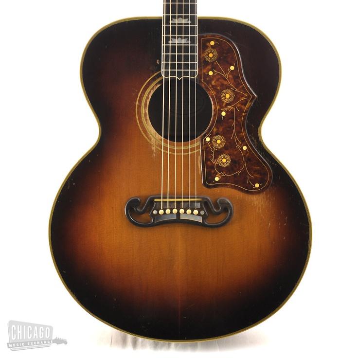 1953 Gibson J 200 Sunburst J200 Jumbo Acoustic Guitar Guitar Design Ideas Pinterest