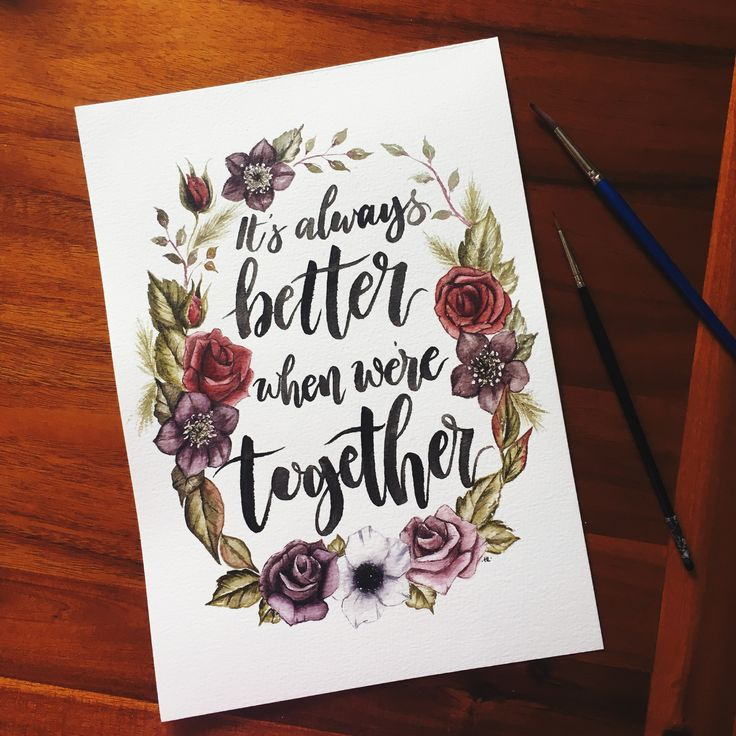 Lettering art, hand lettering, watercolour art, custom quote, quote art, wall art, home decor