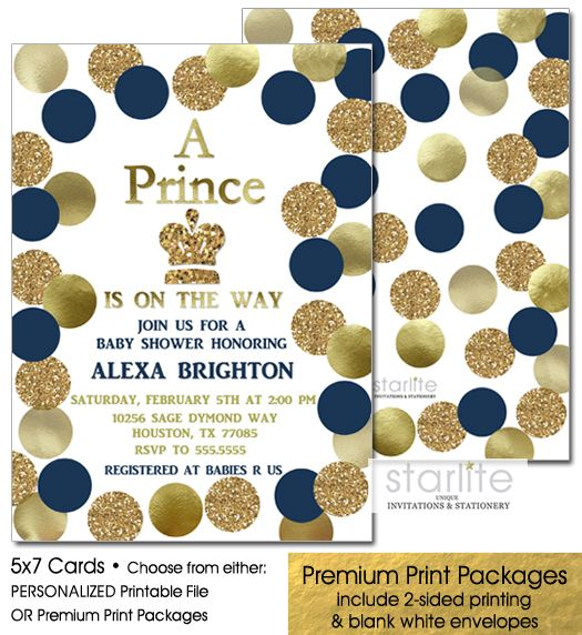28 best baby shower event in may images on pinterest boy shower navy blue and gold baby shower invitation boy crown prince baby boy filmwisefo