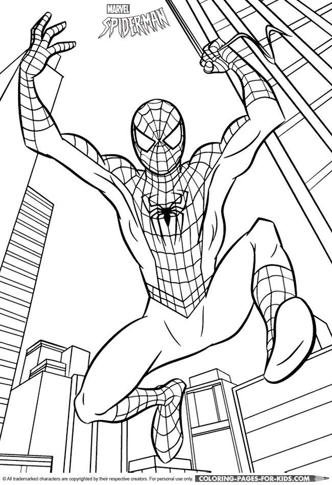 Spiderman Coloring Pages Online Free Barn Pyssel Mala