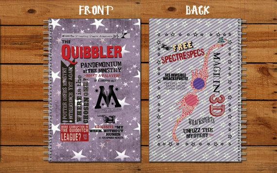 Make your notes and your doodles a little more magical with this Harry Potter/Luna Lovegood The Quibbler notebook. This is perfect for back to