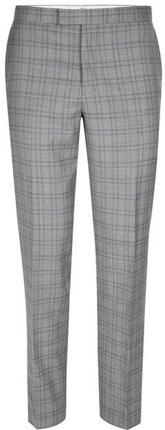 Topman CHARLIE CASELY-HAYFORD X Light Gray Check Skinny Wedding Suit Pants