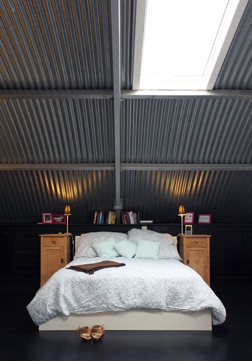Tin ceilings and such tall nightstands (would never have thought of that myself - but love the look!) - yes please!