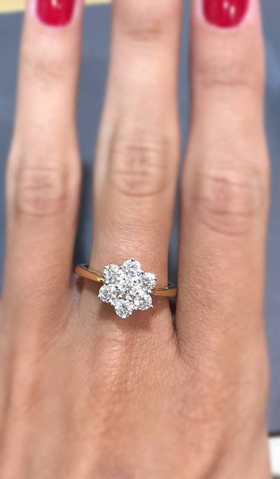 Our Millie 1CT diamond cluster flower ring. #thediamondstoreuk #engagementring #ring #sparkle #diamonds