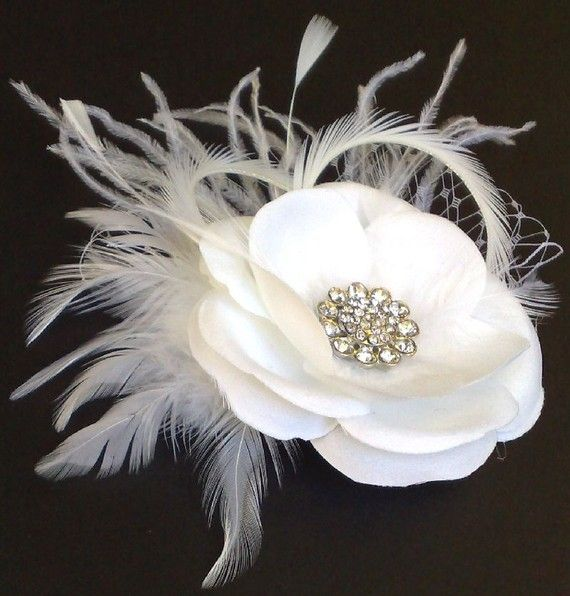 Feather Fascinator by Rachel VivaBridal Feather