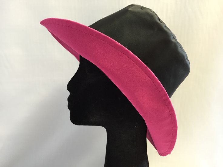 Black wet weather bucket with hot pink contrast