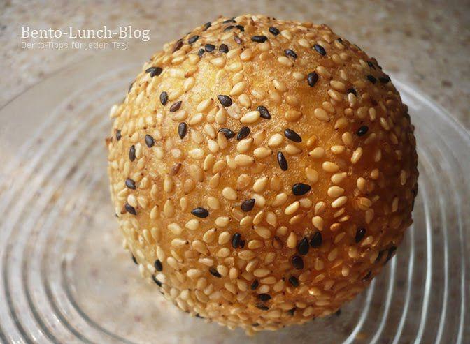 Bento Lunch Blog: Rezept: Chinesische Sesam Bällchen, frittiert und mit Füllung