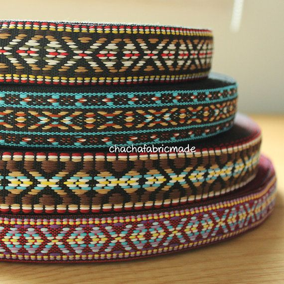 Stretta Vintage tessuto Jacquard Ribbon Trim di ChaChaFabricMade