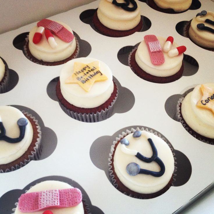 7 best Doctor themewedding cupcakes images on Pinterest Nurse
