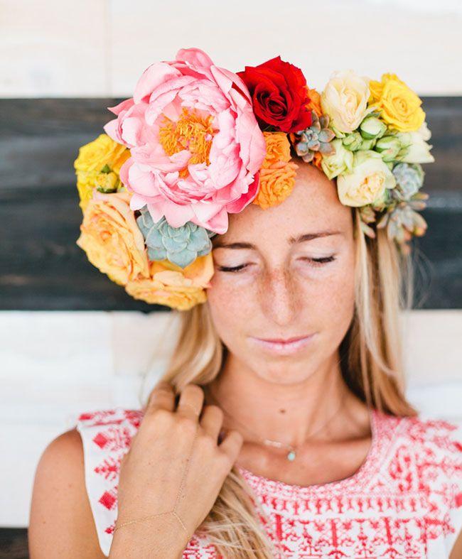 green wedding shoes | wedding inspiration | flower crown | bridal | veil alternative | cinco de mayo wedding inspiration | pink | orange | yellow | red