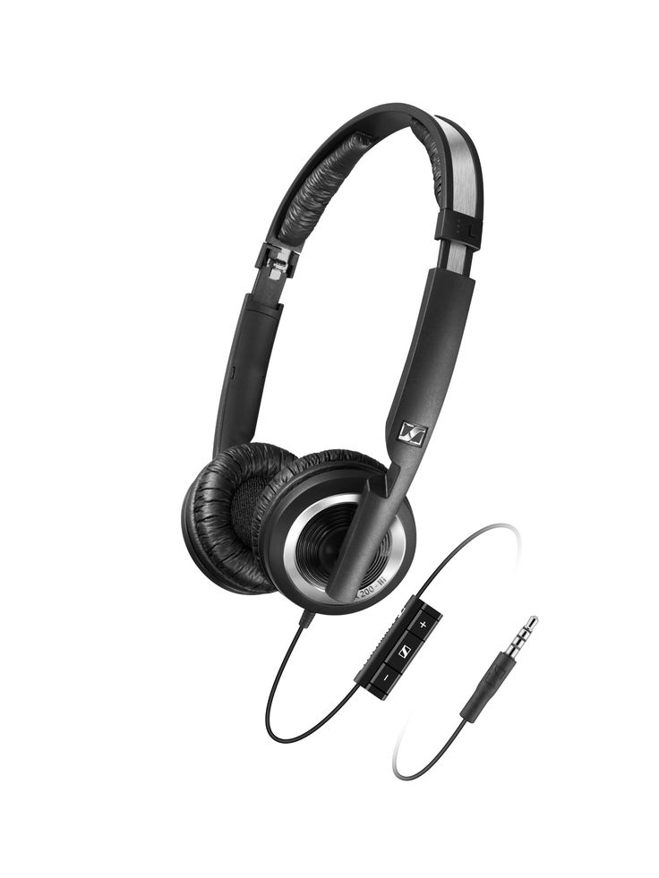 Sennheiser PX 200-II i Lightweight Supra-Aural Headphones with 3 Button Control for iPod, iPhone, and iPad