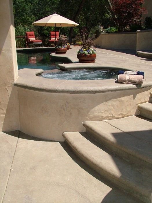 This Pool Deck Was Colored With Davis Colors Sandstone