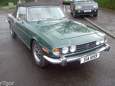 eBay: 1975 TRIUMPH STAG V8 MANUAL O/D GREEN/BISCUIT INTERIOR IN EXCELLENT CONDITION