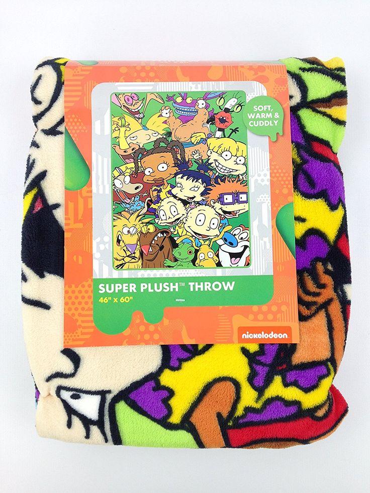 Nickelodeon 90's Cartoons Super Plush Throw