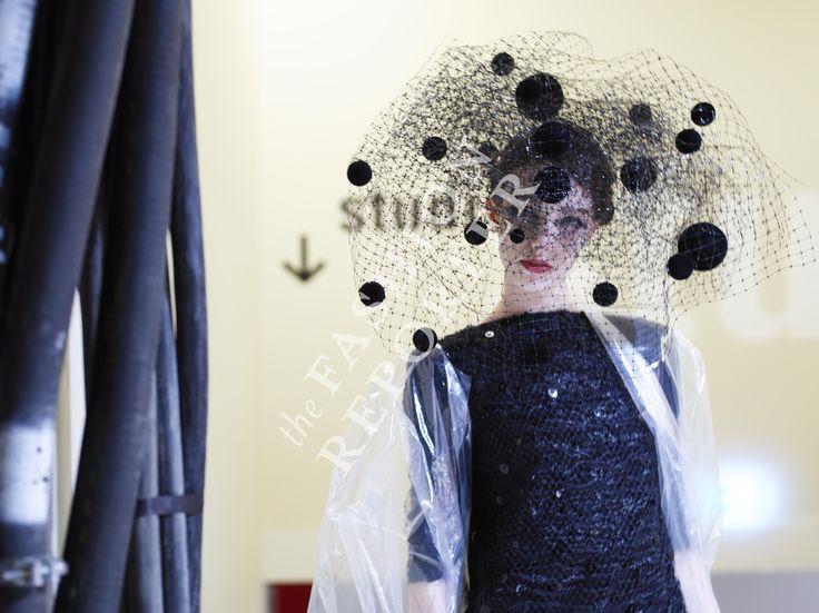 Larissa Marchiori at Giorgio Armani Prive Backstage   Haute Couture FW14-15   Ph. Antonello Trio