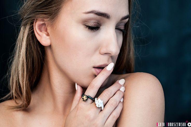 Tetris and Naphta Ring ....  Photography: Agata Tomaszewska (agata-photography...) Model: Karolina Jowita Jackiewicz (www.jj-photomodel.pl) Jewellery: Karolina Bik Jewellery Make up: Aleksandra Drzewiecka