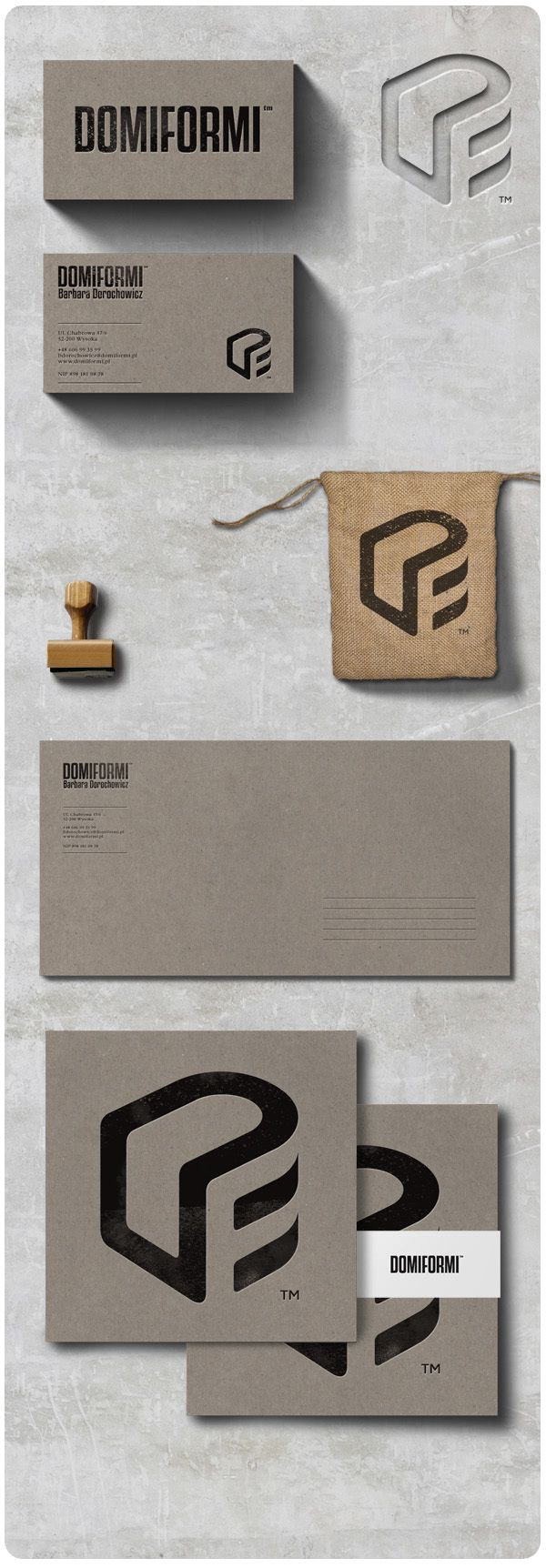 Domiformi | Concept by Marcin Przybyse | Behance | corporate design | corporate identity