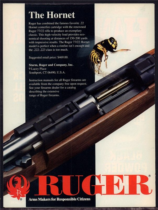 1994 RUGER Model 77/22 Hornet Rifle PRINT AD : Other Collectibles at…Loading that magazine is a pain! Get your Magazine speedloader today! http://www.amazon.com/shops/raeind