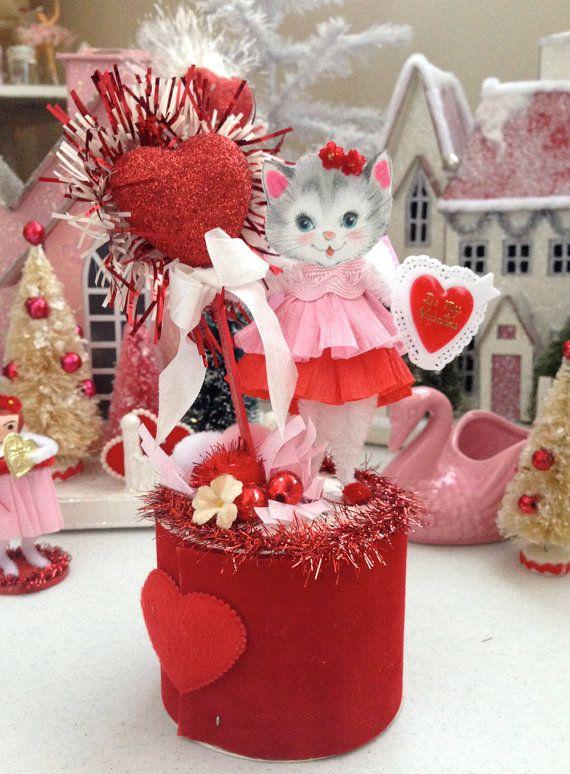 vintage inspired sugar sweet valentine kitschy by saturdayfinds - Vintage Valentine Decorations