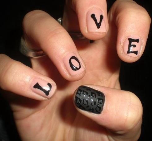 13 best word nail art images on pinterest beauty nails choose love nail art prinsesfo Images