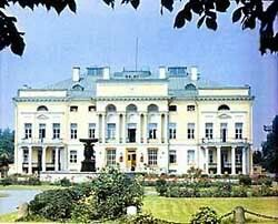 """Modern view of the Alexandrinskiy Palace on Neskushnoye,Moscow.This palace became one of Empress Alexandra Feodorovna of Russia's Hospital during WWl. """"AL"""""""