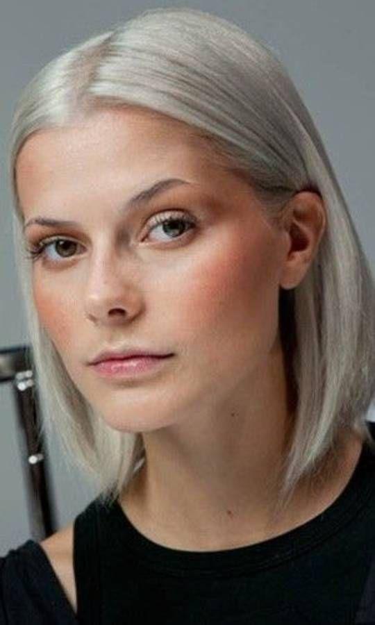 cheveux blancs 25 jolies faons de porter les cheveux blancs elle - Colorer Cheveux Blancs