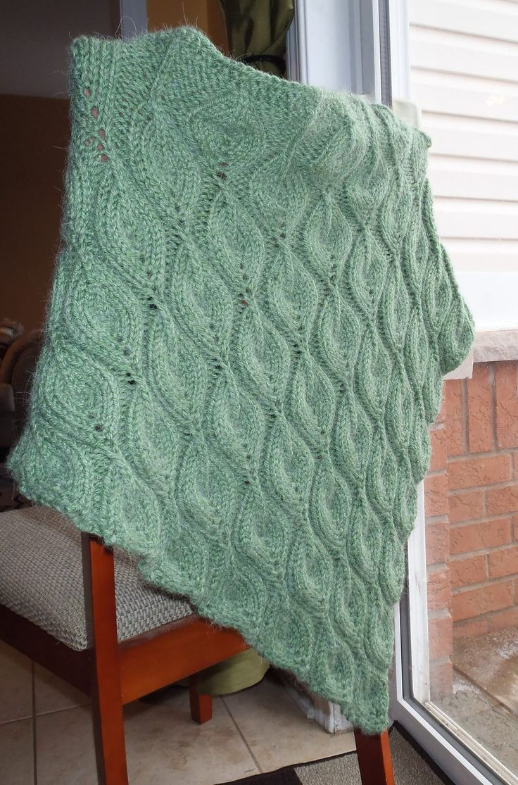 Free Knitting Pattern for Candle Flame Shawl - Designed by ...