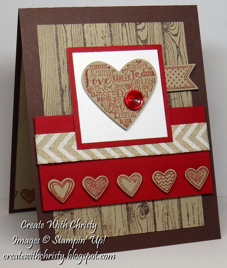 Stampin' Up! Language of Love & Hardwood Valentine's Day Card - Masculine - Christy Fulk, Stampin' Up! Demo