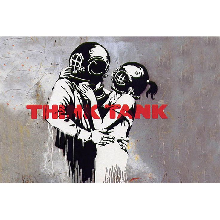 iART Banksy 'Blur Think Tank Album Cover' Print Wall Art
