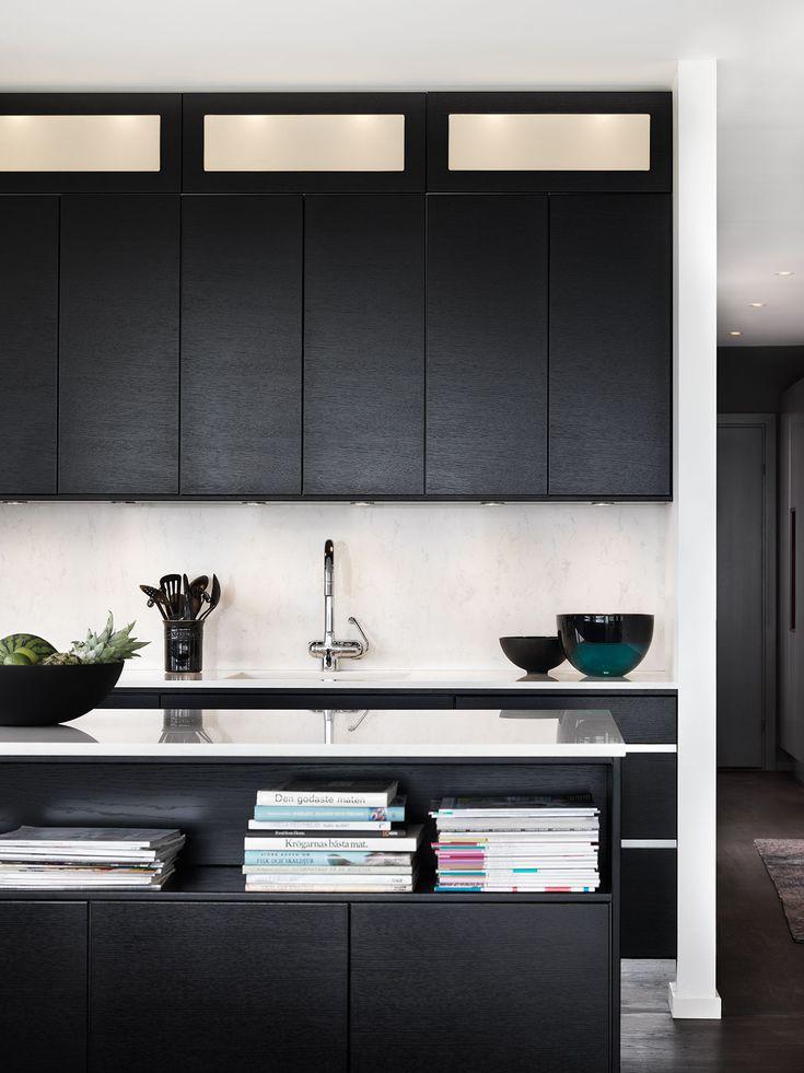 Kjøkkeninspirasjon - Moderne svart kjøkken - Metro / Line