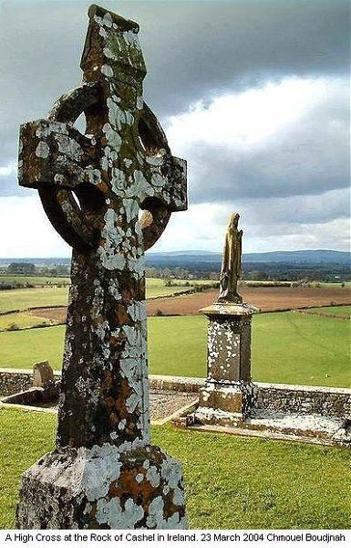 One of the Oldest Celtic Crosses in Ireland.. A High Cross at the Rock of Cashel (Carraig Phadraig) - Cashel (Caiseal)