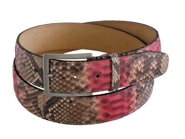 Python bk men's belt color rock-rose