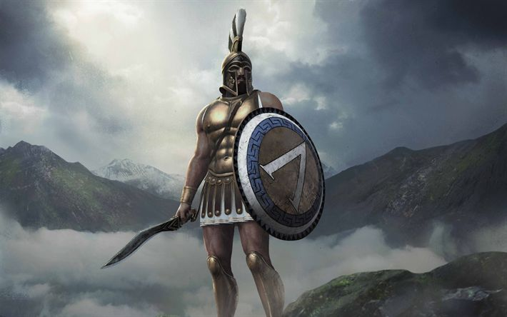 Descargar fondos de pantalla Total War Arena, 2017, King Leonidas, Character, Leonidas I, Sparta, 4k, Warrior, Spartan