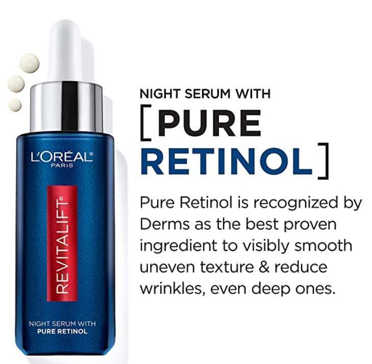 Retinol Serum For Face L Oreal Paris Revitalift Derm Night Serum Retinol Serum Revitalift