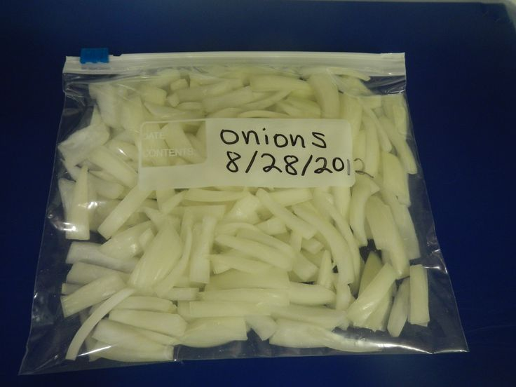#Freezing onions - quick & easy!