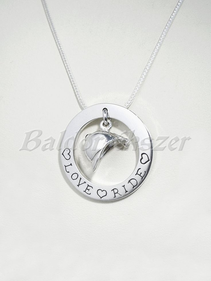 Silver necklace with riding cap by BaldorJewelry on Etsy