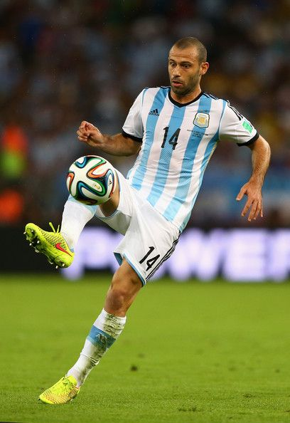 Javier Mascherano as midfielder.