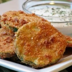 """Kelli's Fried Green Zucchini 