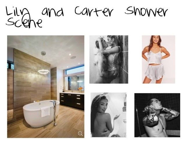 """Lily and Carter shower scene"" by georgiashepherd18 on Polyvore featuring Missguided"
