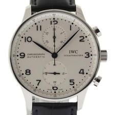 IWC New Portuguese Chronograph Steel IW371446 Automatic Box/Papers/Warranty #IW3