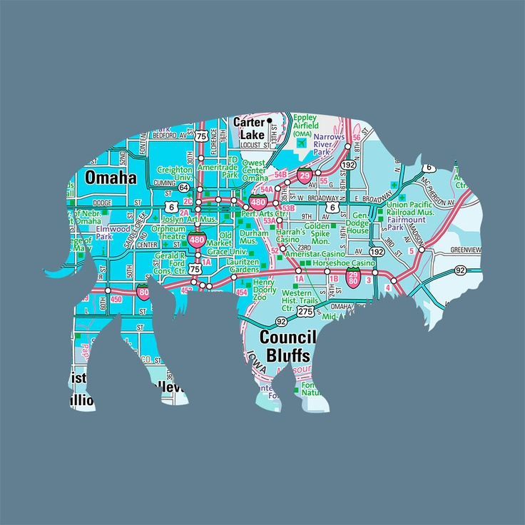 Nebraska bison silhouette Cool idea for scrapping vacations
