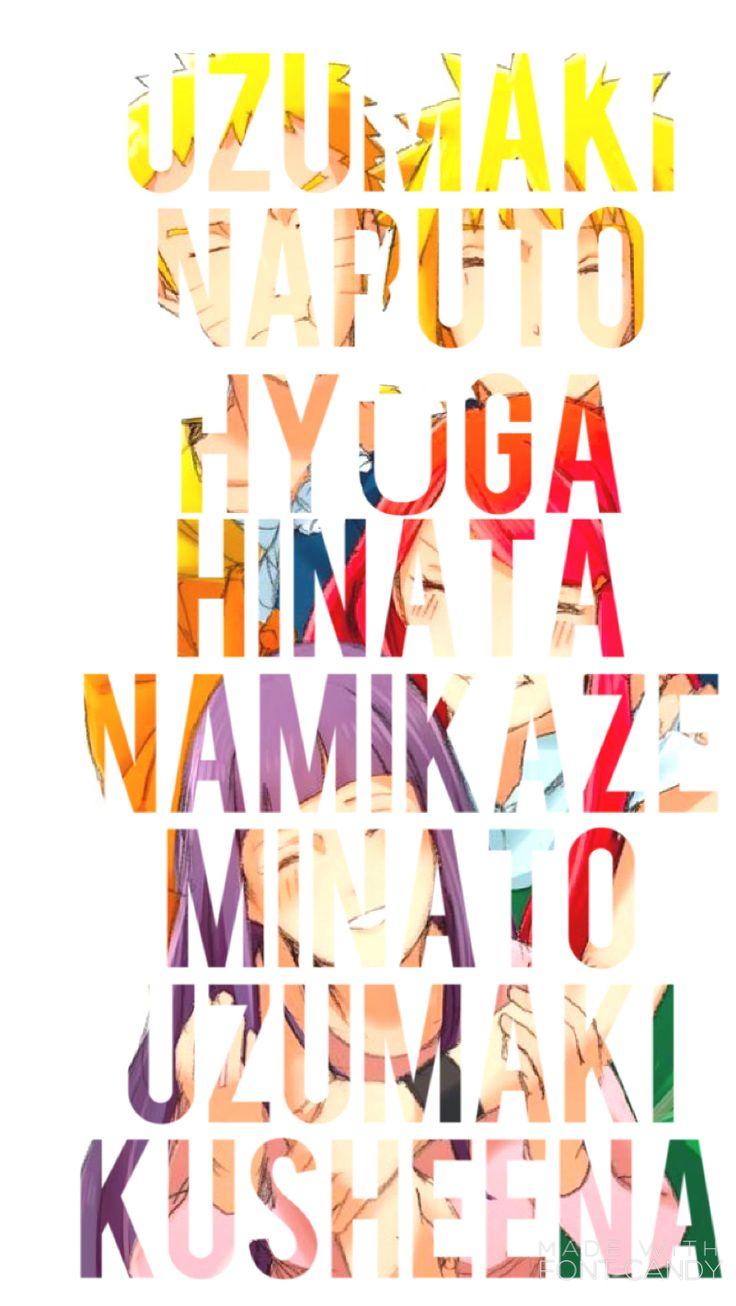 Uzumaki Naruto - Hyūga Hinata - Uzumaki Kusheena - Namikaze Minato  Ash Carter  https://www.pinterest.com/AnimeAllstar/