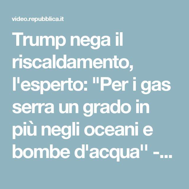 """Trump nega il riscaldamento, l'esperto: """"Per i gas serra un grado in più negli oceani e bombe d'acqua'' - Repubblica Tv - la Repubblica.it"""