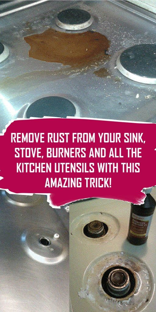 Remove Rust From Your Sink Stove