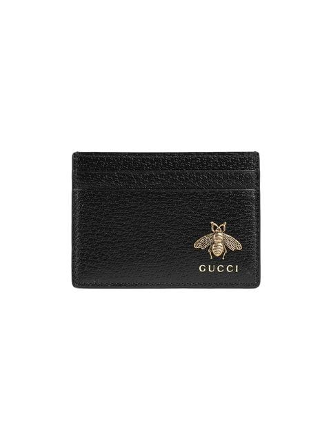7b99059eabaa Shop Gucci Animalier leather card case | goto | Leather card case ...